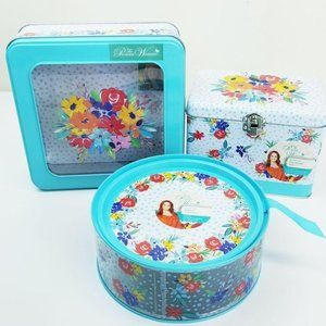 Pioneer Woman Canister Recipe Box Round Container